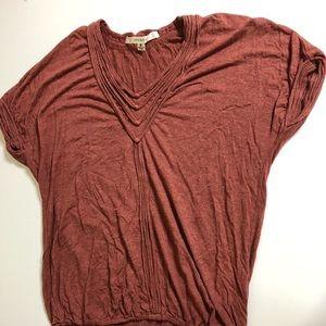 Studio M rust colored V-neck top